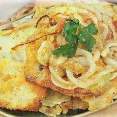 Рецепт капустного шницеля с луком