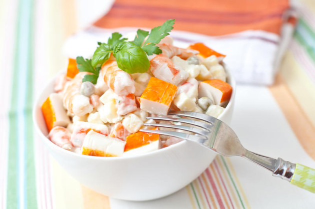 Рецепт салат из крабовых палочек