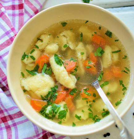 Суп с клёцками рецепт