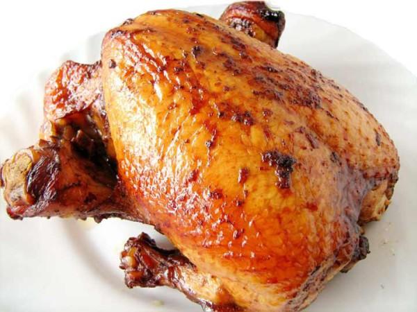 Курица запеченная на соли в духовке