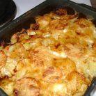 Мясо с картошкой и кабачком в духовке