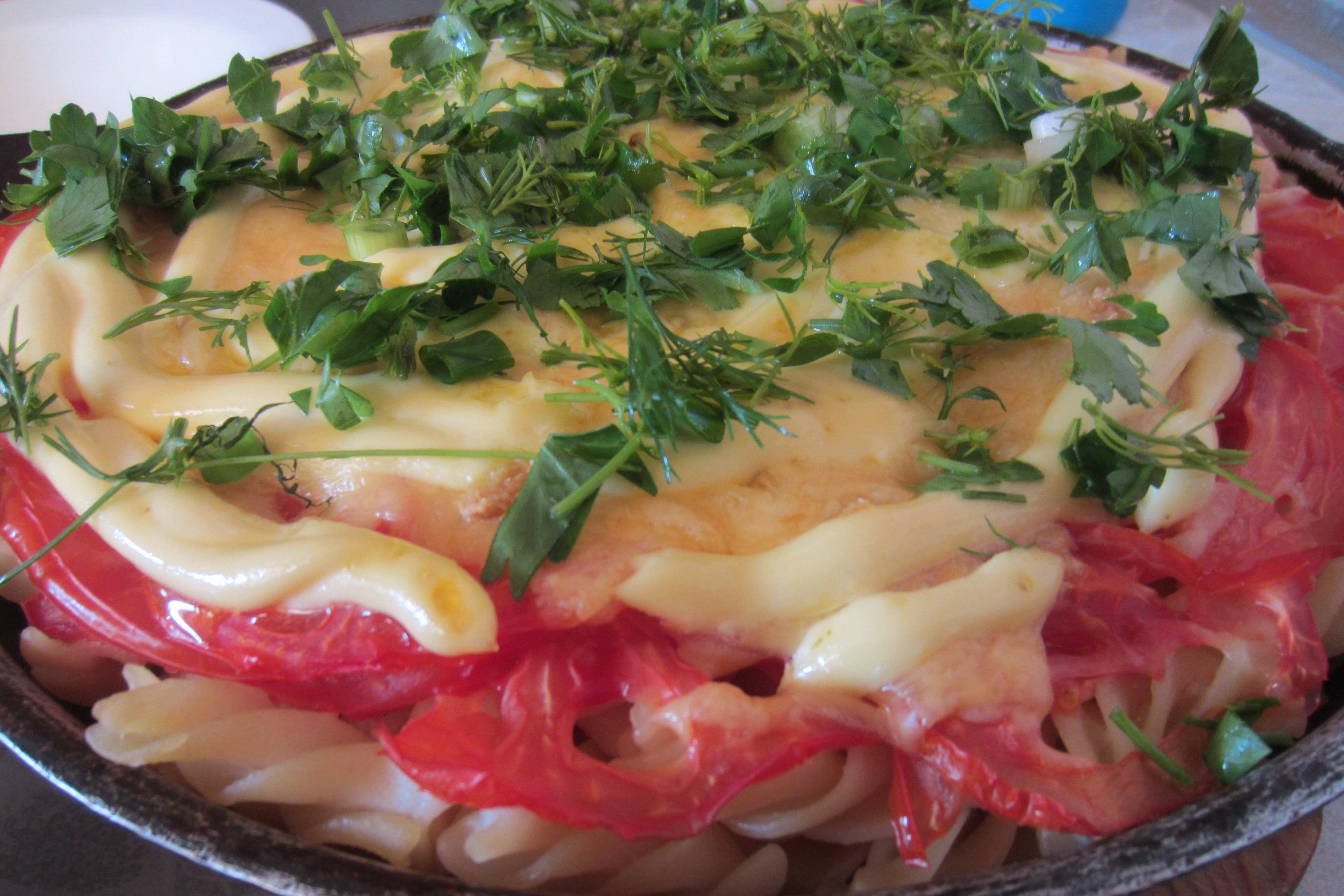 Макароны запеченные с сыром и помидорами в духовке рецепт 157