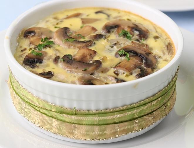Грибы запеченные в сметанном соусе рецепт в духовке