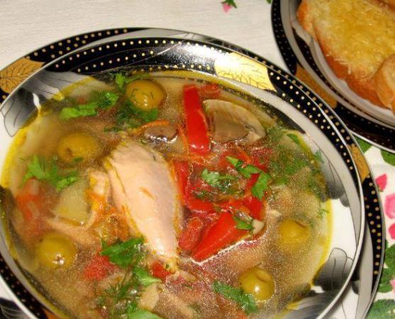 Куриная похлёбка по-черногорски