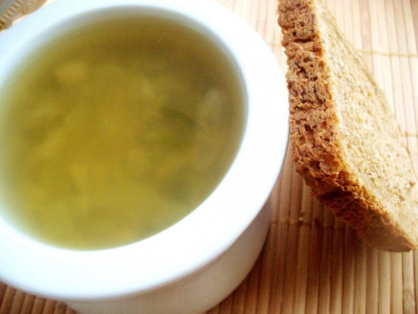Постный грибной суп с фасолью