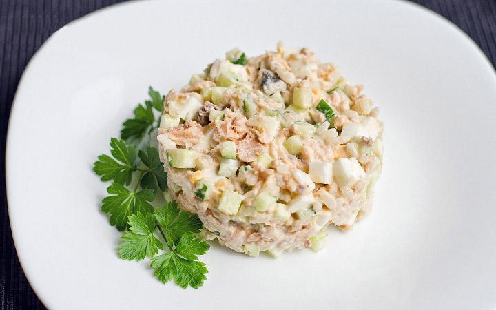 Салат с печени трески и риса рецепты с