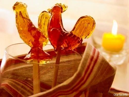 Сделать конфеты петушки в домашних условиях