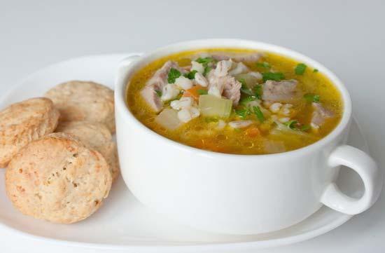Суп из баранины и перловой крупы