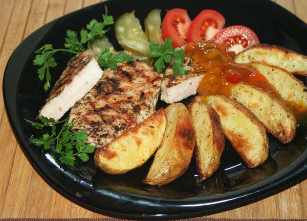 Картофель по-деревенски с мясом
