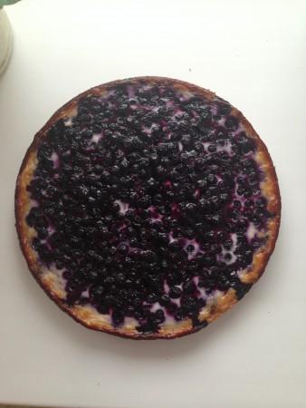 Финский черничный пирог