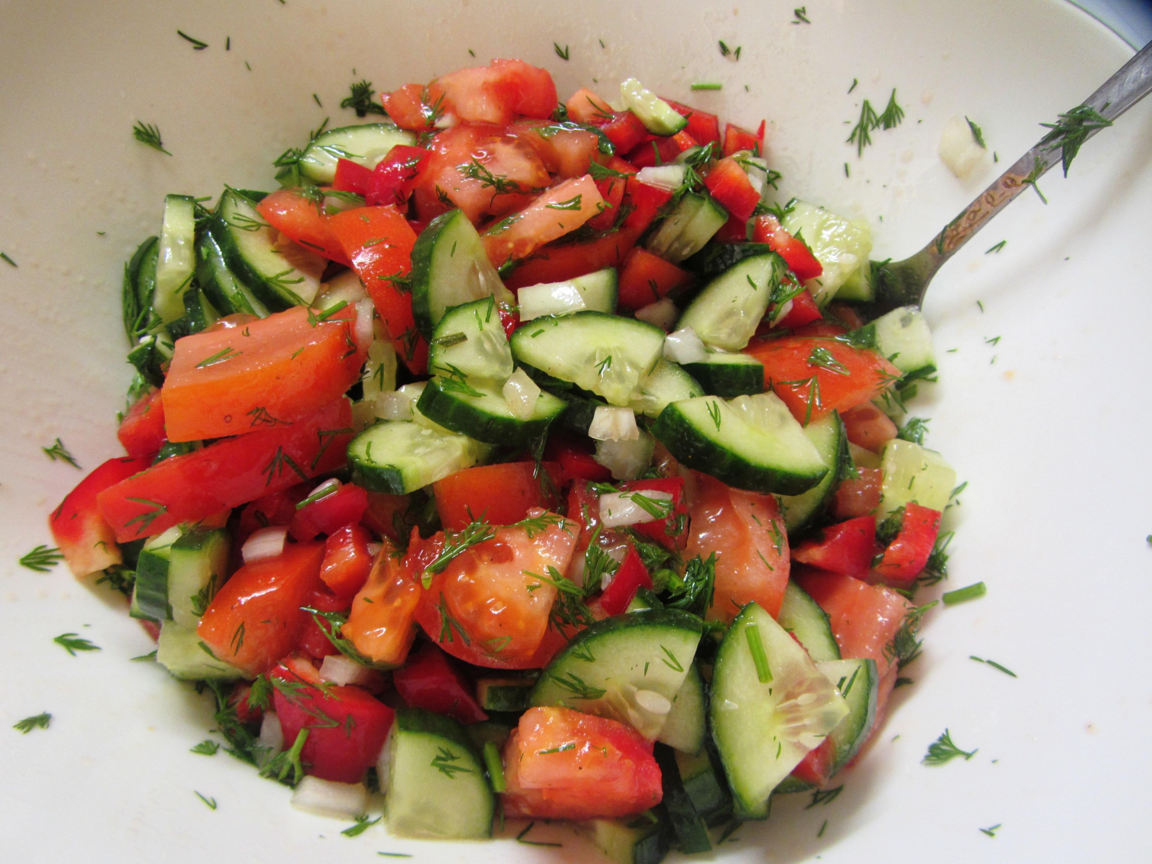 простой салат из овощей рецепт с фото зажигается