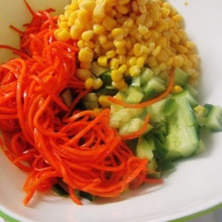 Салат с морковью по‑корейски