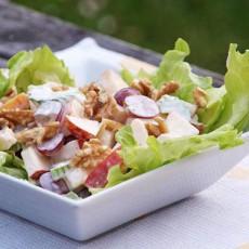 Рецепт фруктового салата с майонезом