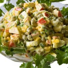 Крабовый салат с эстрагоном