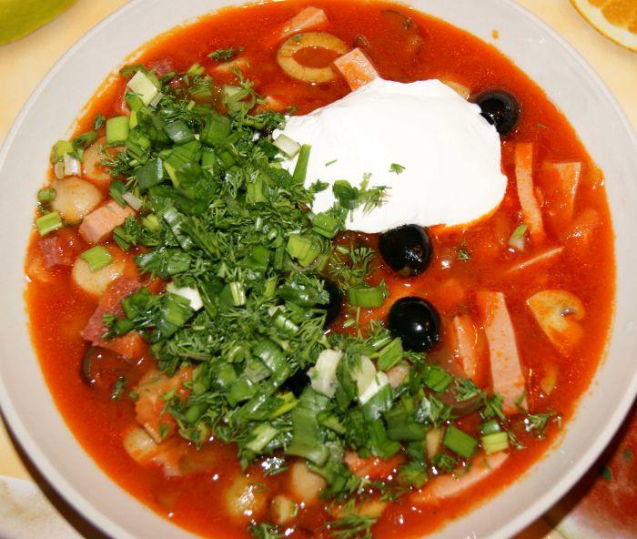 рецепт солянка с колбасой и капустой рецепт с фото