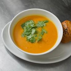 Тыквенный суп с имбирем