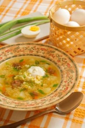 Суп с пшеном по‑деревенски