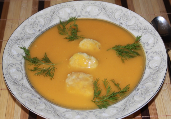 Суп-пюре с фрикадельками
