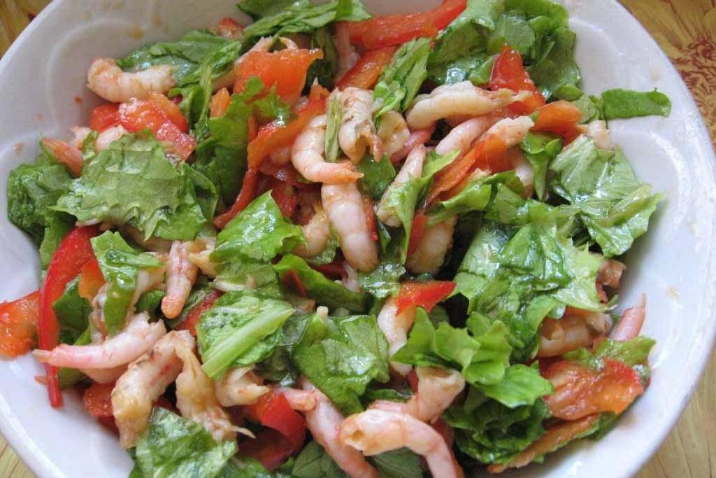 Фото салата с морепродуктами