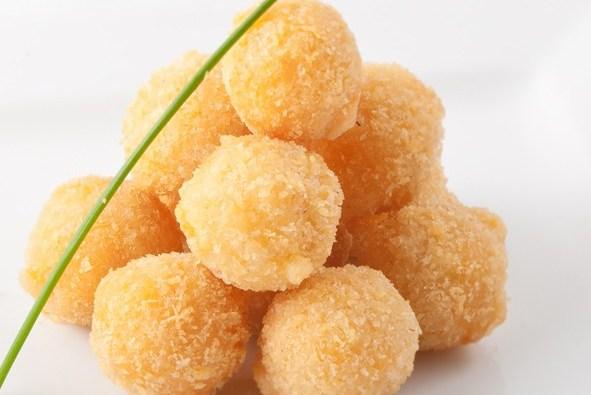 Сырные шарики на сковороде