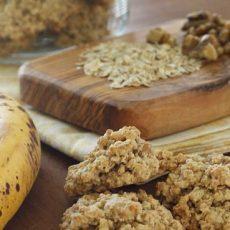 Овсяное печенье с бананом и семечками.