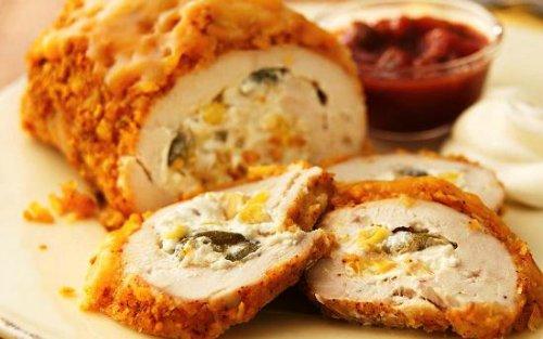 Куриные рулетики с сыром и творогом.