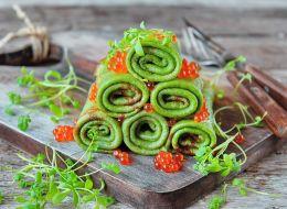 Шпинатные блинчики с зеленью