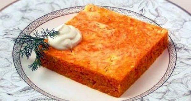 Морковно-тыквенная запеканка как в детском саду рецепт