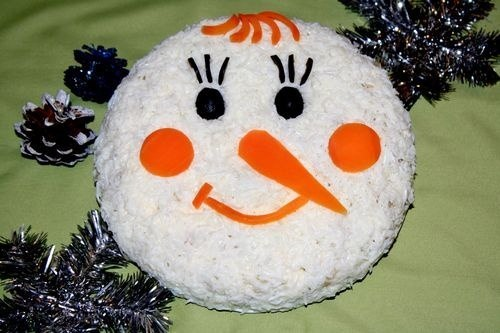 "Оливье ""Снеговик"""