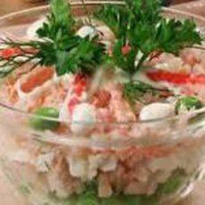 Салат из кальмаров диетический