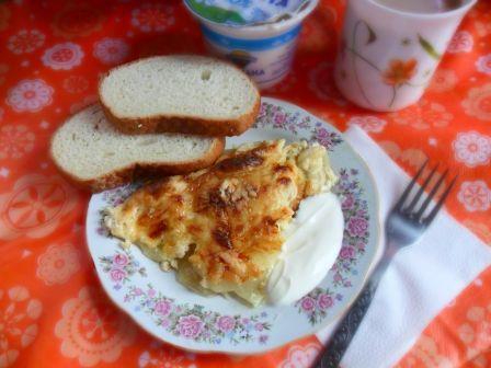 Запеченная картошка со сливками и сыром в духовке