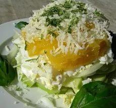 Салат с сыром и апельсинами