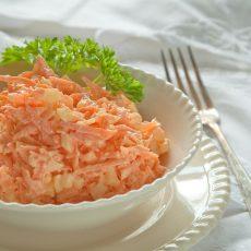 Салат «Морковь с чесноком»