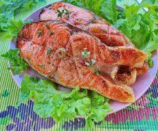 Диетический шашлычок из рыбы