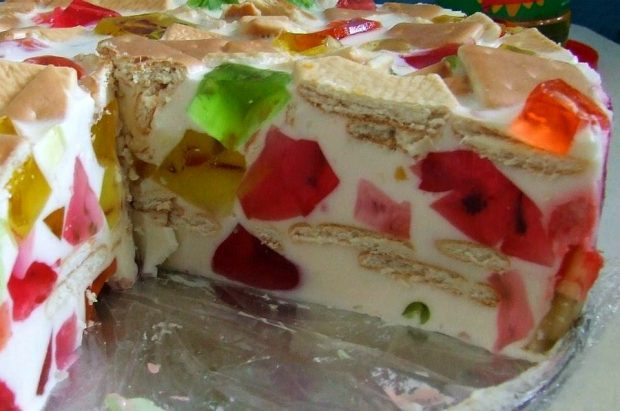 Торт-желе без выпечки