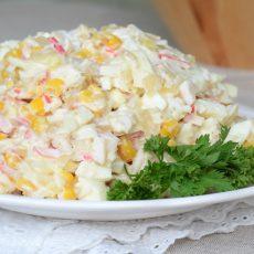 Салат крабовый с ананасом